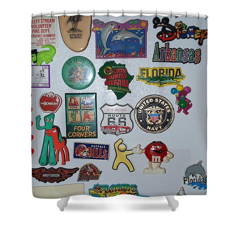 Refrigerator Shower Curtain featuring the photograph Fridge Magnets by Rob Hans