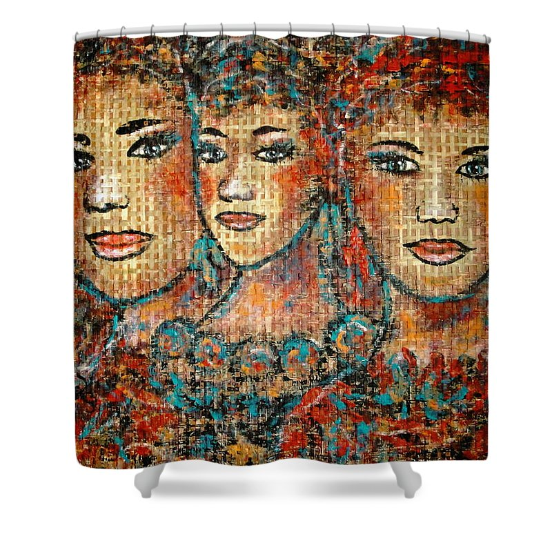 Friends Shower Curtain featuring the painting Friends Forever by Natalie Holland