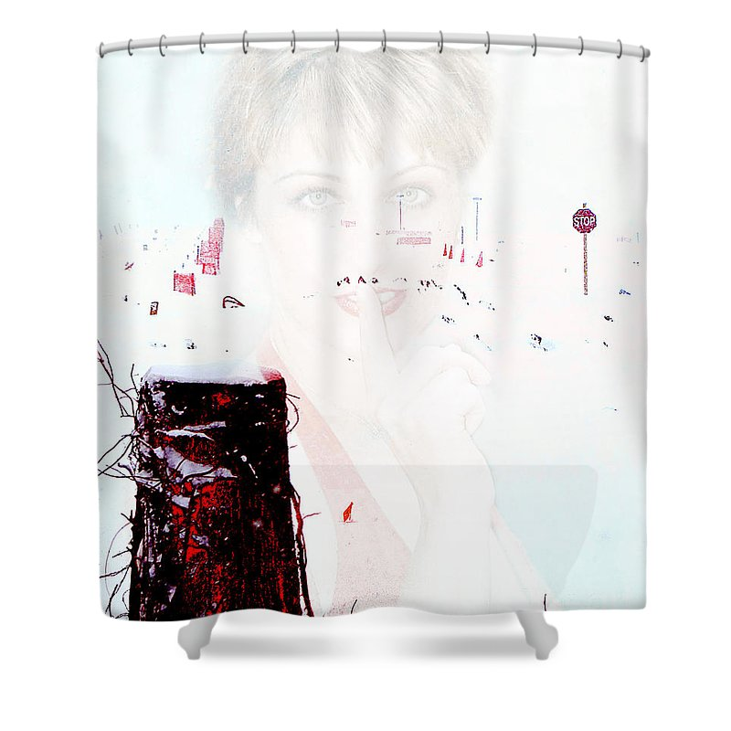Clay Shower Curtain featuring the photograph Frigid by Clayton Bruster