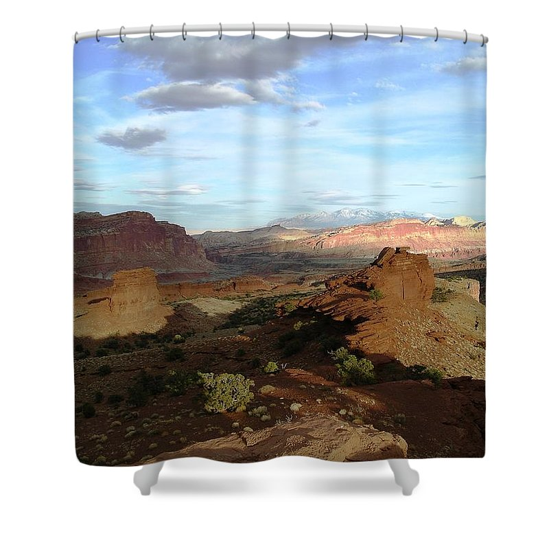 Capitol Reef Np Shower Curtain featuring the photograph From Sunset Point 2 by Rich Bodane