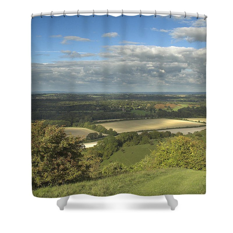 South Shower Curtain featuring the photograph From The Downs To The Weald by Hazy Apple