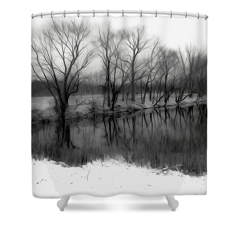 Bridge Shower Curtain featuring the photograph From The Wren Bridge by Jeffrey Hamilton