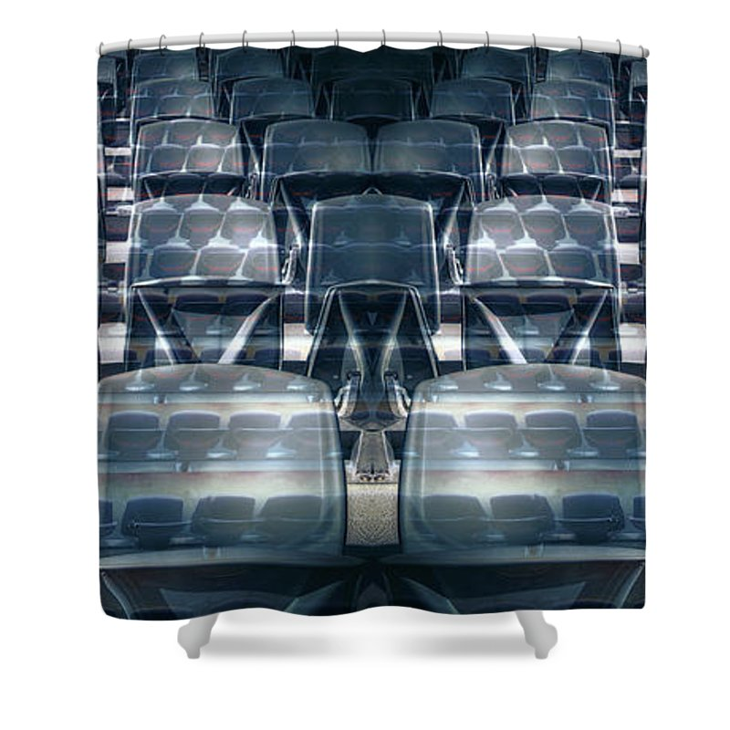 Front Stalls Shower Curtain featuring the photograph Front Stalls by Wayne Sherriff