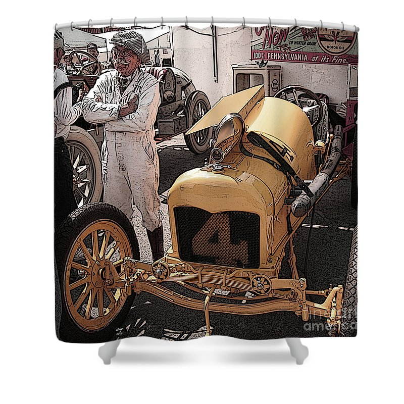 Ford Shower Curtain featuring the photograph Fronty Ford 1915 by Curt Johnson