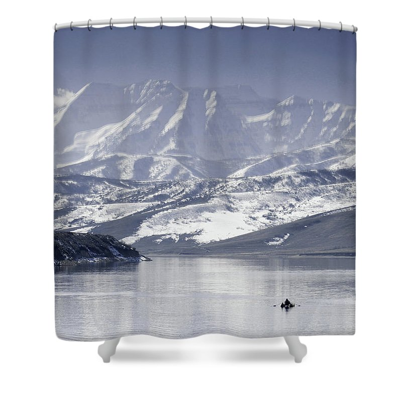 Mountains Shower Curtain featuring the photograph Frosted Mountains by Scott Sawyer