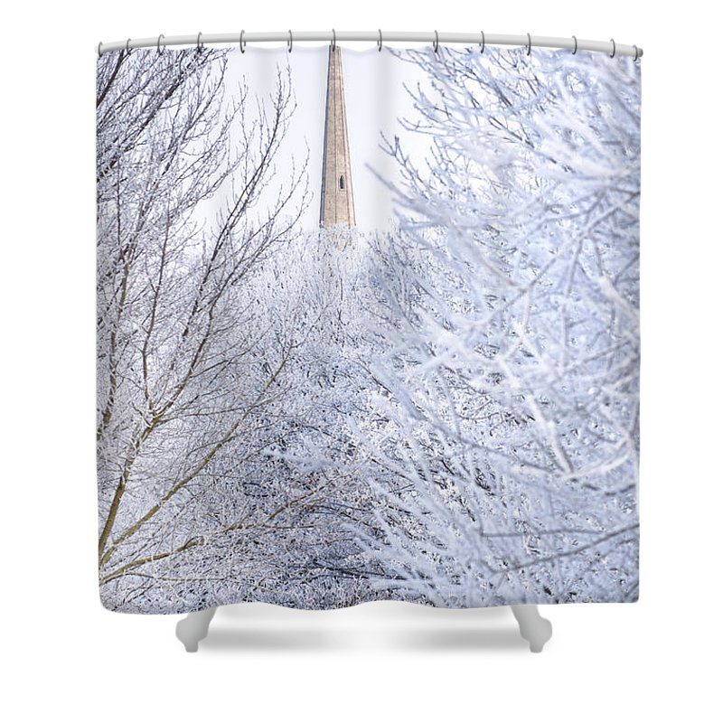 Andrew's Shower Curtain featuring the photograph Frosty Morning by Andrew Michael