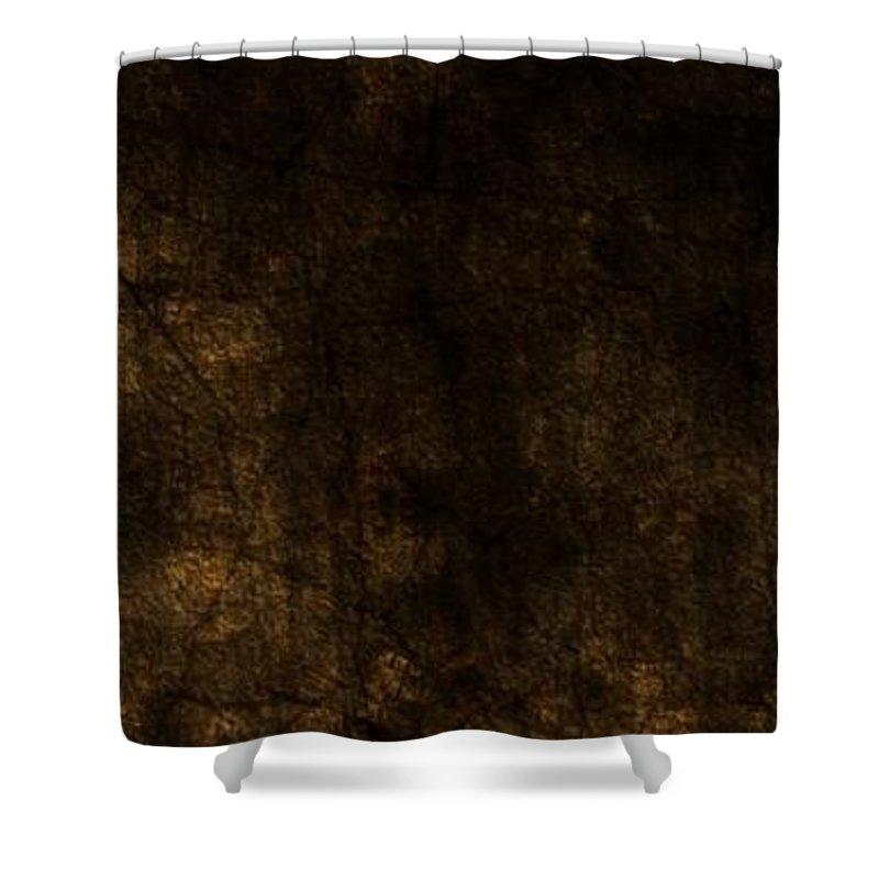 Digital Art Shower Curtain featuring the digital art Frozen Fire by Shubham Kumar