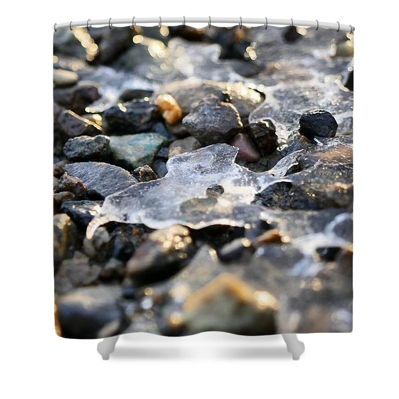 Ice Shower Curtain featuring the photograph Frozen Heart by Christopher Wilson
