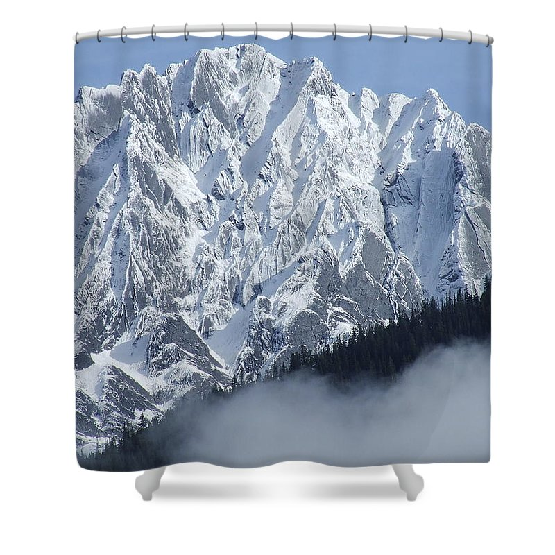 Rocky Shower Curtain featuring the photograph Frozen In Time by Tiffany Vest