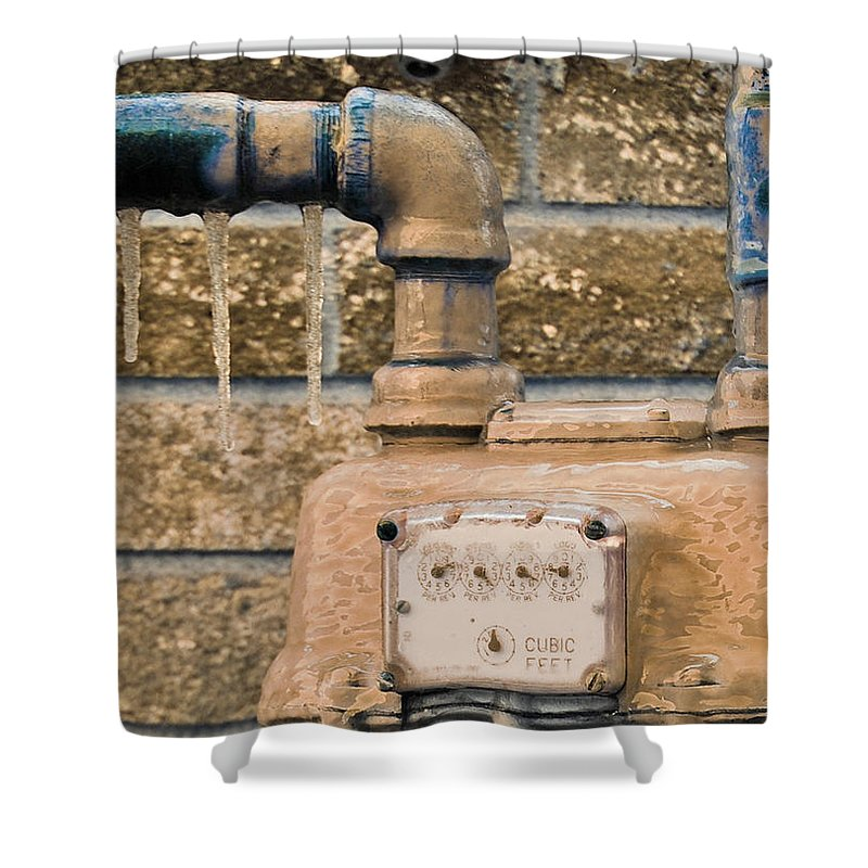 Winter Shower Curtain featuring the photograph Frozen Meter by Donna Shahan