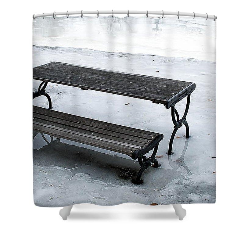 Newburyport Shower Curtain featuring the photograph Frozen by Rick Mosher