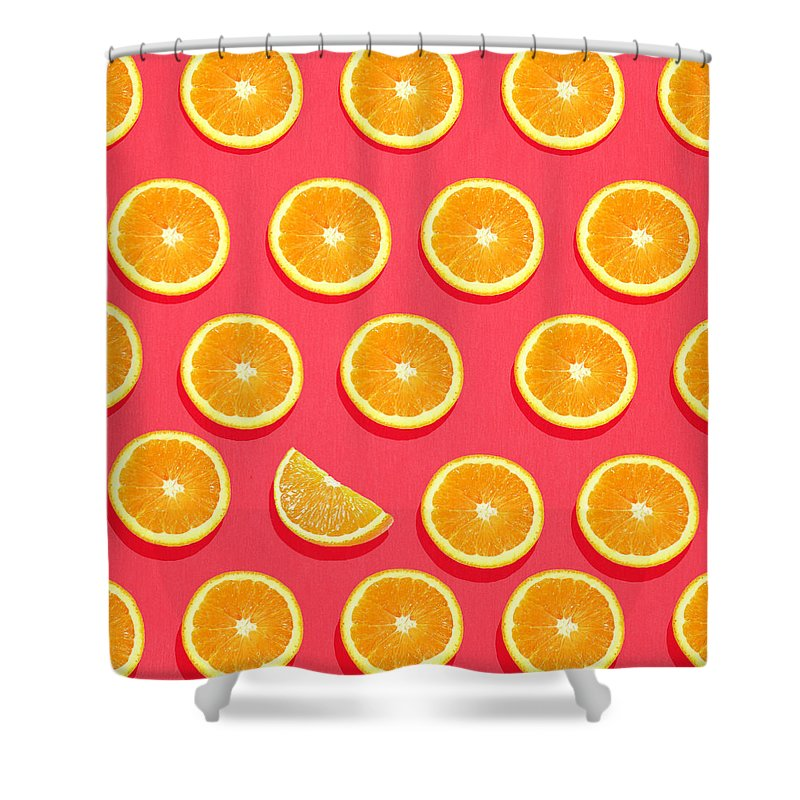 Abstract Shower Curtain featuring the painting Fruit 2 by Mark Ashkenazi