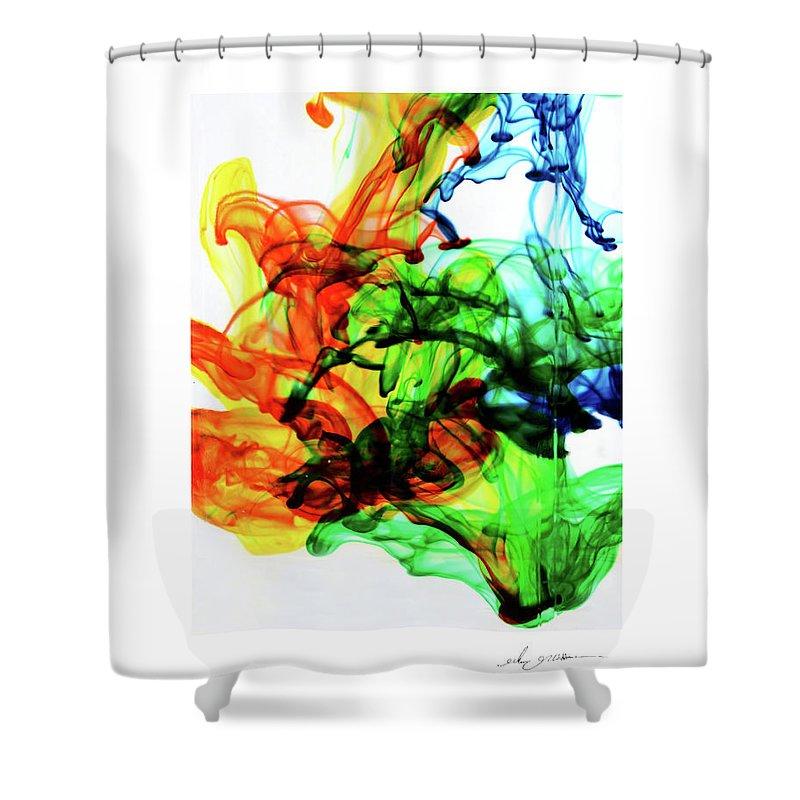 Green Shower Curtain featuring the photograph Fruit Salad by Glenn Grossman