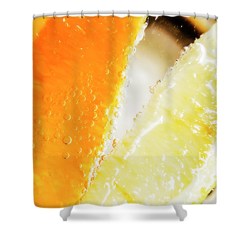 Slice Shower Curtain featuring the photograph Fruity Drinks Macro by Jorgo Photography - Wall Art Gallery