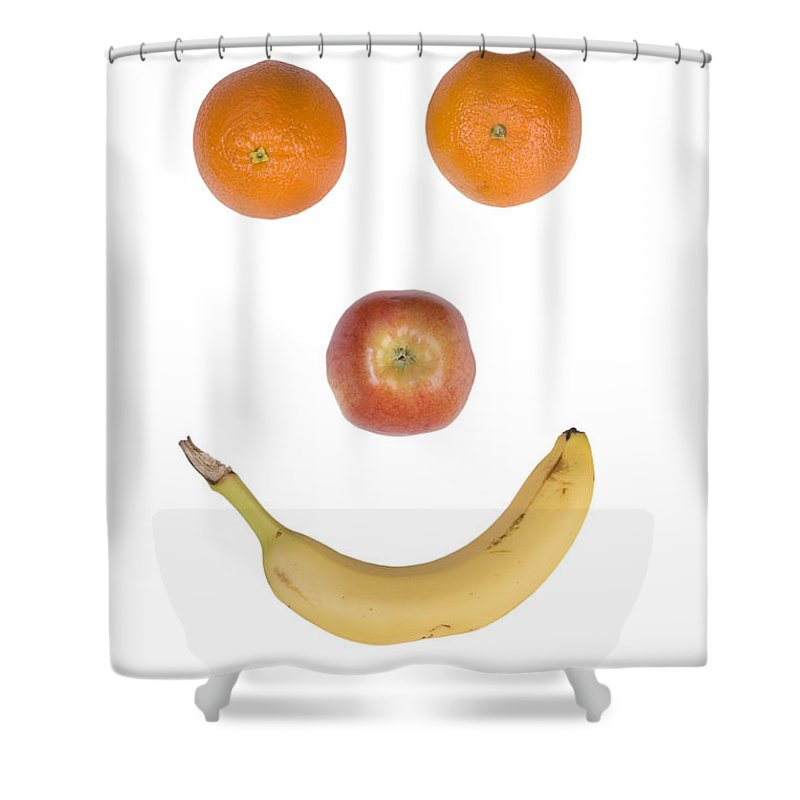 Fruit Shower Curtain featuring the photograph Fruity Happy Face by James BO Insogna