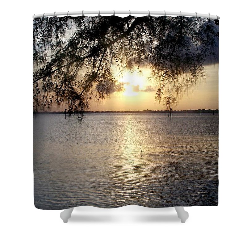 Sunrise Shower Curtain featuring the photograph Ft. Myers Sunrise by Glenna Oliver