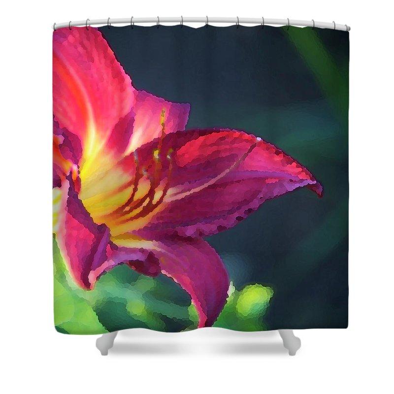Fuchsia Shower Curtain featuring the photograph Fuchsia Palette by Debbie Karnes