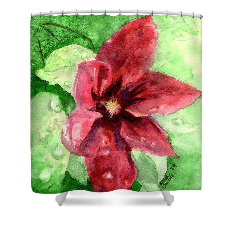 Flower Shower Curtain featuring the painting Full Bloom by Andrew Gillette