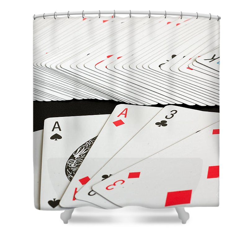 Ace Shower Curtain featuring the photograph Full House by Joe Ng
