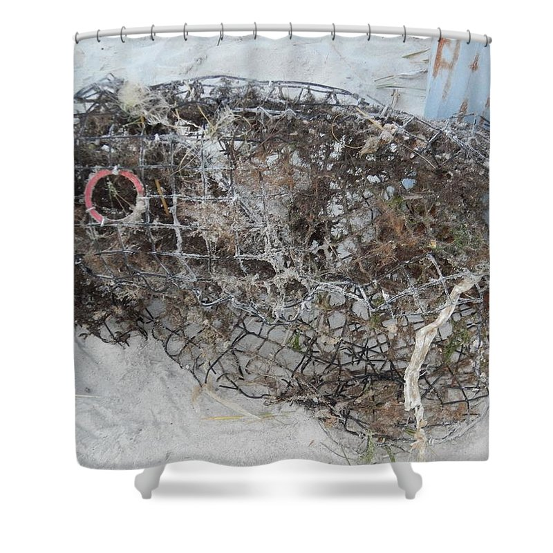 Artistry Shower Curtain featuring the photograph Full Metal Fish by Becky Haines