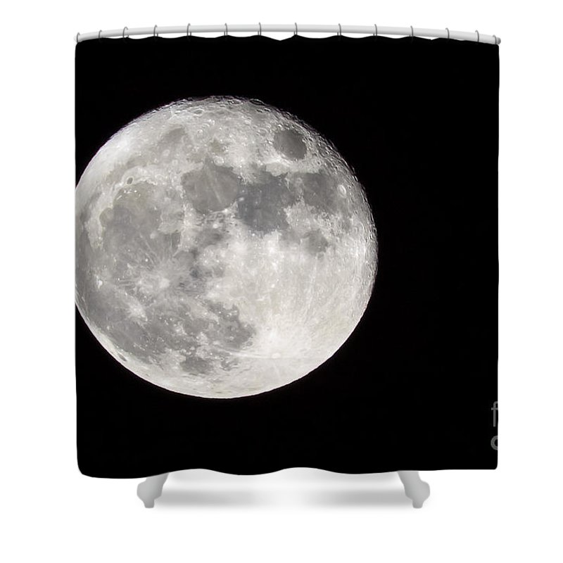 Full Moon Shower Curtain featuring the photograph Beaver Moon by John Lee