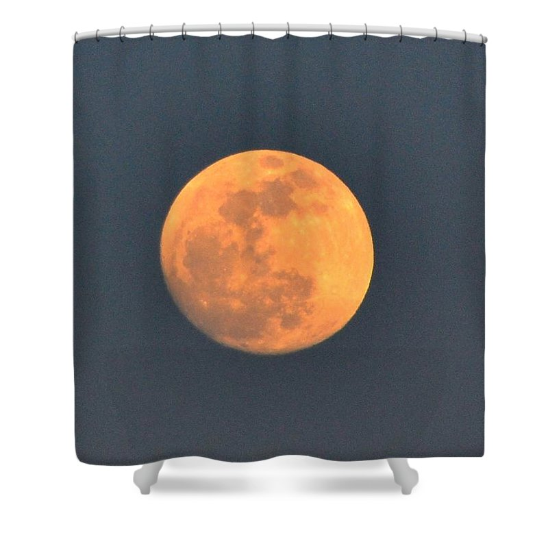 Moon Shower Curtain featuring the photograph Full Moon by Katerina Naumenko