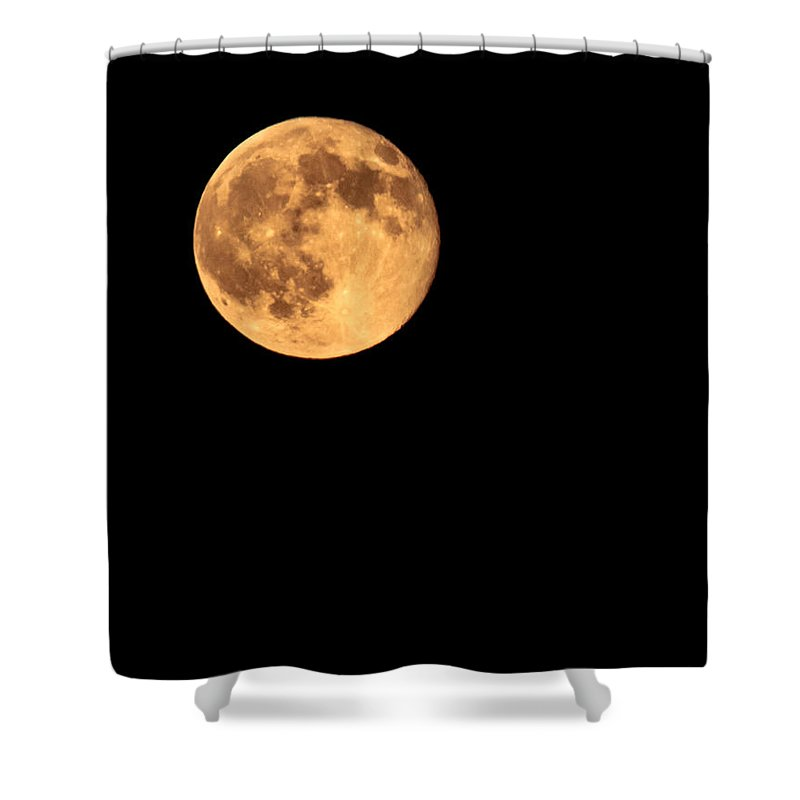 Night Shower Curtain featuring the photograph Full Moon by Robert Bales