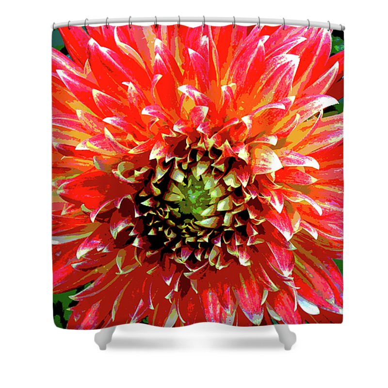 Flower Shower Curtain featuring the photograph Full Of Fire II by Cathi Abbiss Crane