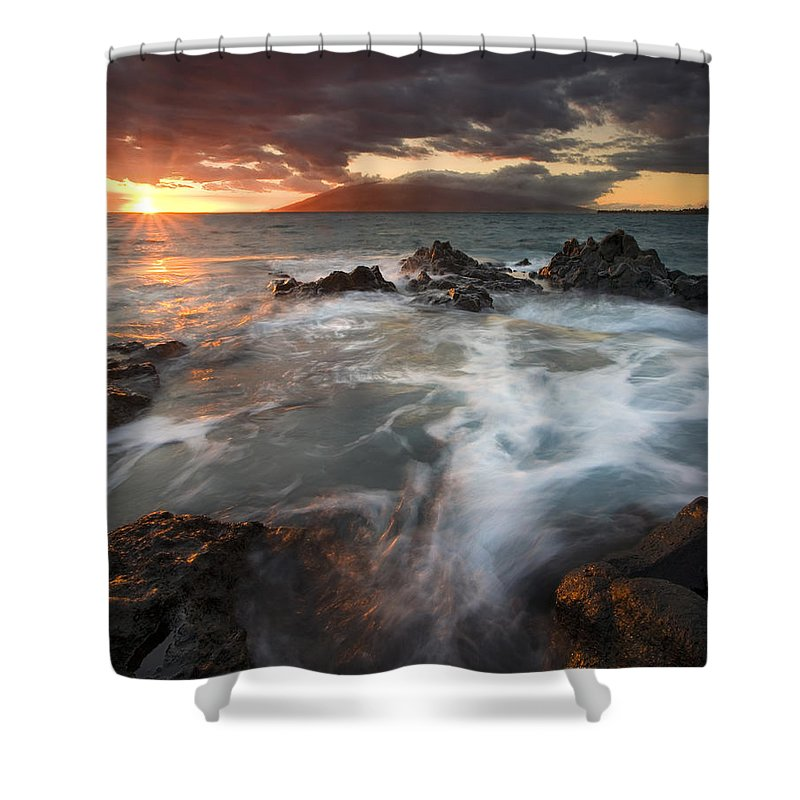 Cauldron Shower Curtain featuring the photograph Full To The Brim by Mike Dawson