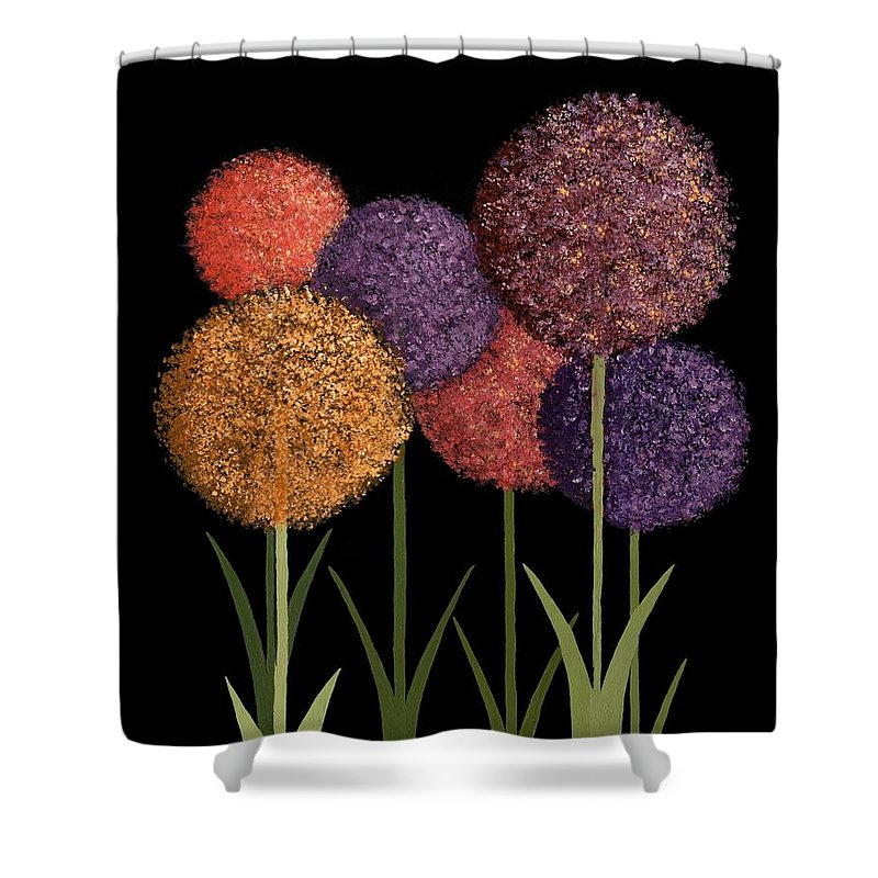 Art Decor Shower Curtain featuring the painting Fun Colours by Frank Hamilton