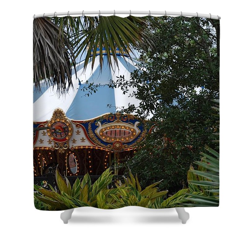 Architecture Shower Curtain featuring the photograph Fun Thru The Trees by Rob Hans