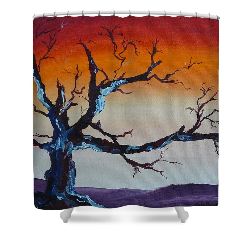 Tree Shower Curtain featuring the painting Fungus Tree by Patti Bean