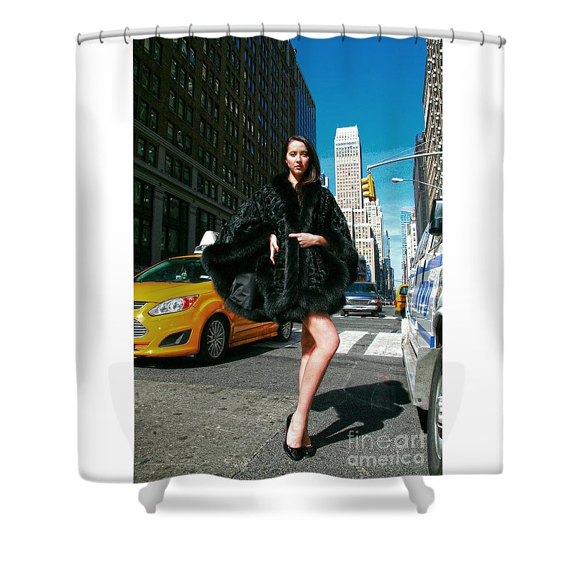 Marc Kaufman Furs Shower Curtain featuring the photograph Fur-st Avenue by Artisan Array