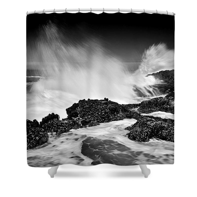 Waves Shower Curtain featuring the photograph Fury by Mike Dawson