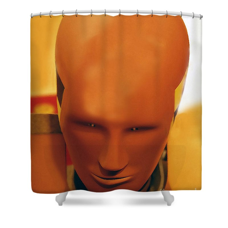 Future Shower Curtain featuring the photograph Future Man by David Lee Thompson