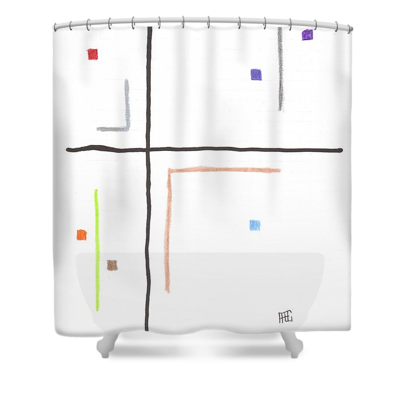 Lines Shower Curtain featuring the mixed media G10 by Alan Chandler