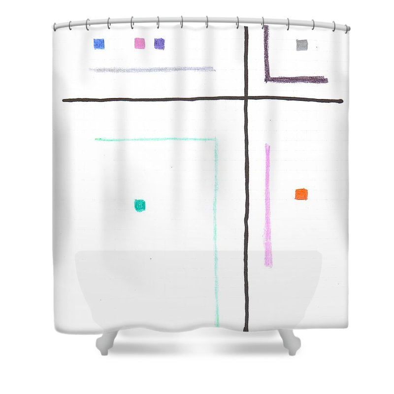 Lines Shower Curtain featuring the mixed media G6 by Alan Chandler