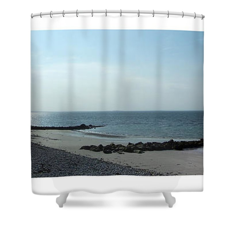 Irish Shower Curtain featuring the photograph Galway Bay At Salt Hill Park Galway Ireland by Teresa Mucha