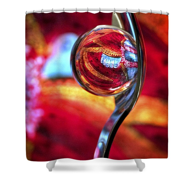 Ball Shower Curtain featuring the photograph Ganesh Spoon by Skip Hunt