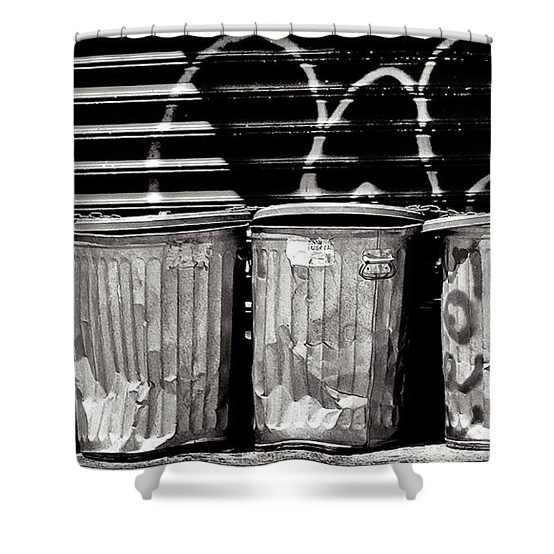 Garbage Shower Curtain featuring the photograph Garbage by Madeline Ellis