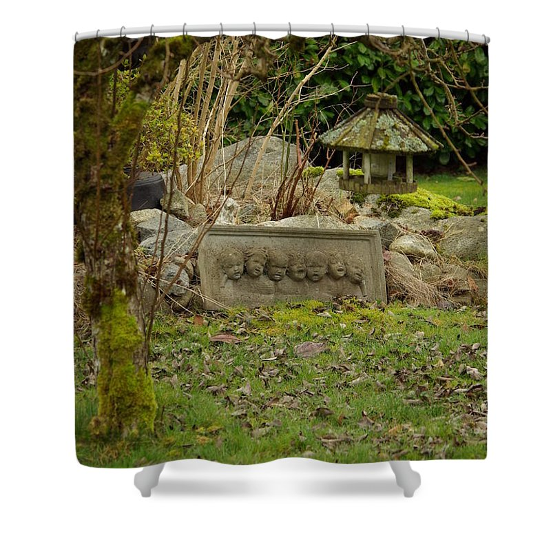 Garden Shower Curtain featuring the photograph Garden Babies by Cindy Johnston
