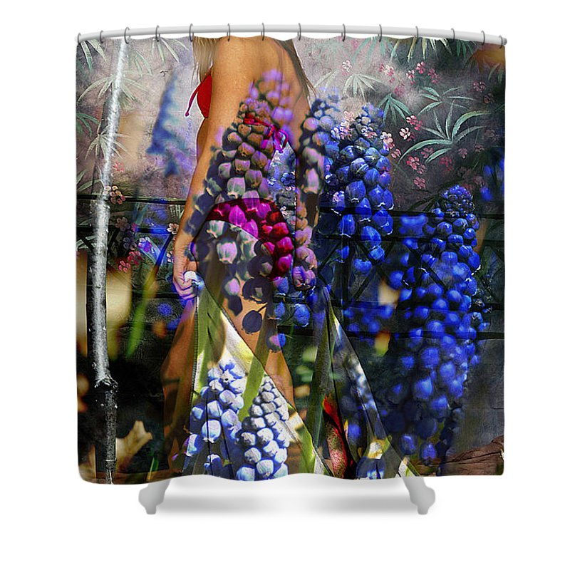 Clay Shower Curtain featuring the photograph Garden Nymph by Clayton Bruster