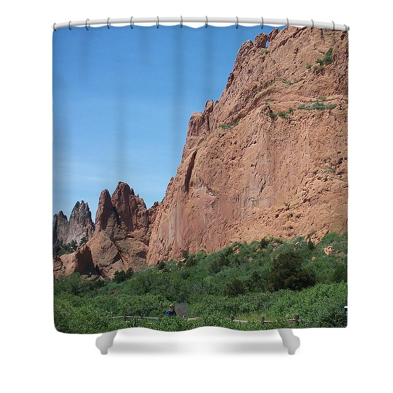 Colorado Shower Curtain featuring the photograph Garden Of The Gods by Anita Burgermeister