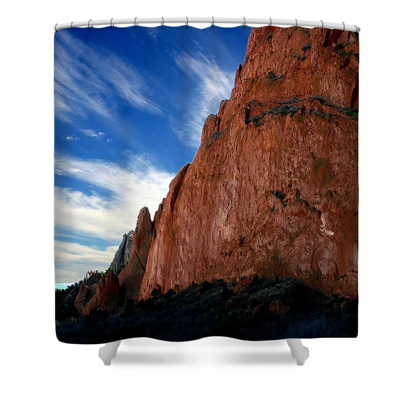 Garden Of The Gods Shower Curtain featuring the photograph Garden Of The Gods by Anthony Jones