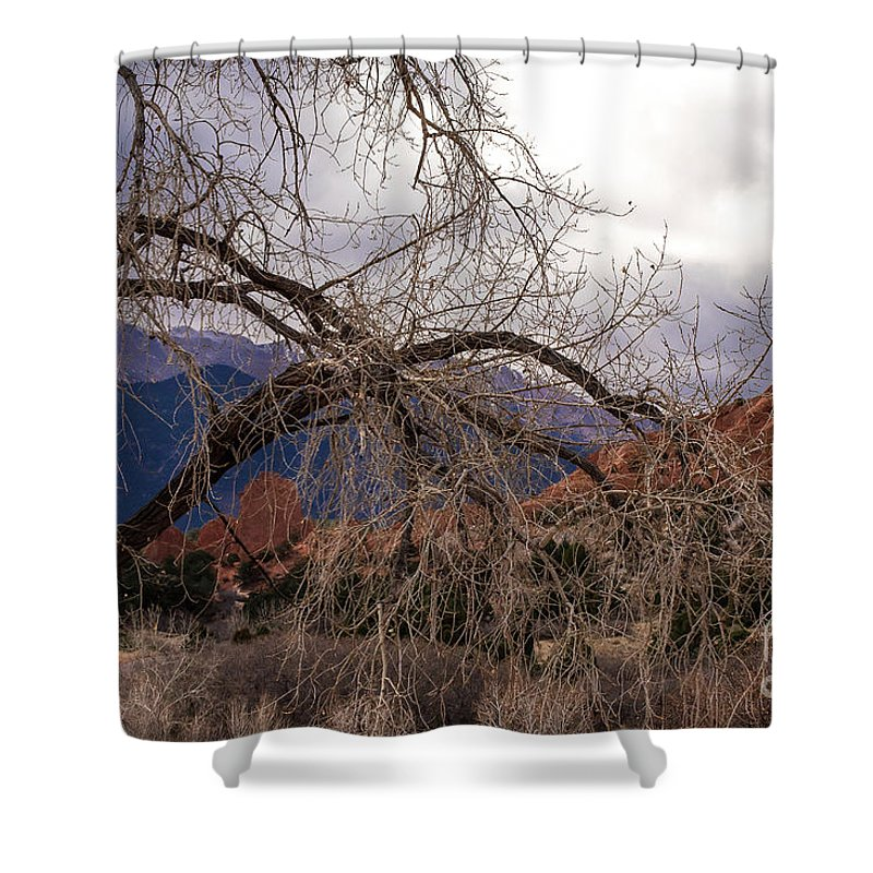 Colorado Springs Shower Curtain featuring the photograph Garden Of The Gods Entrance by Jennifer Mitchell