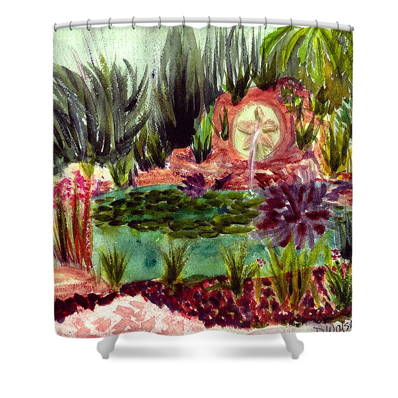 Garden Shower Curtain featuring the painting Garden Path by Donna Walsh