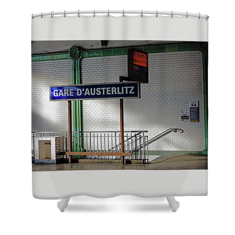 Paris Shower Curtain featuring the photograph Gare D'austerlitz In Paris, France by Richard Rosenshein