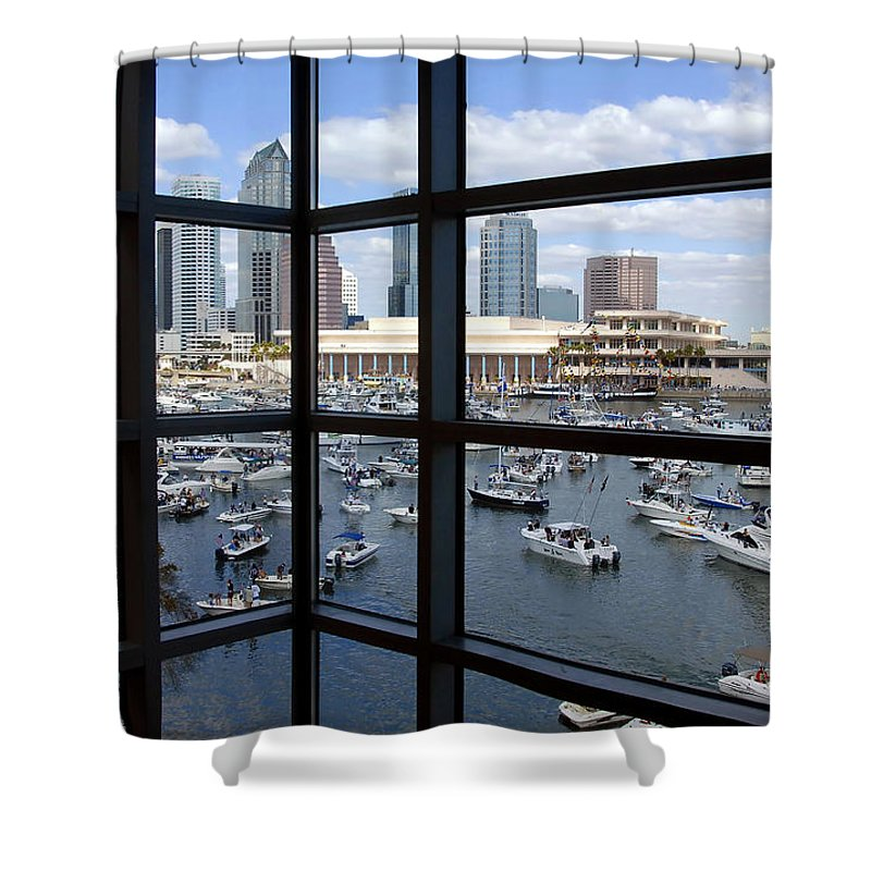 Gasparilla Shower Curtain featuring the photograph Gasparilla Invasion by David Lee Thompson