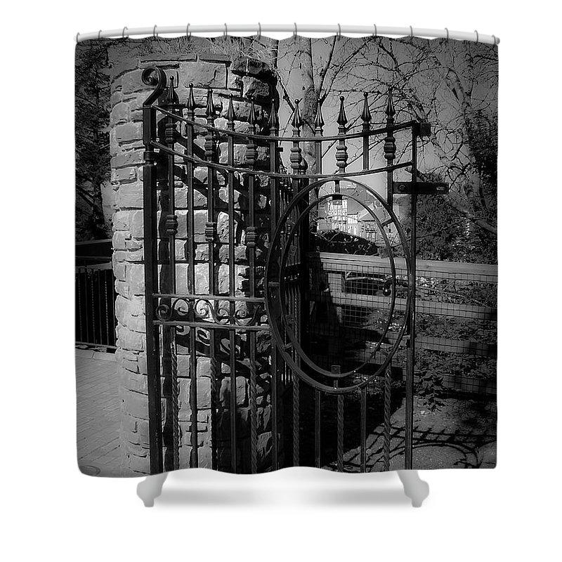 Irish Shower Curtain featuring the photograph Gate In Macroom Ireland by Teresa Mucha