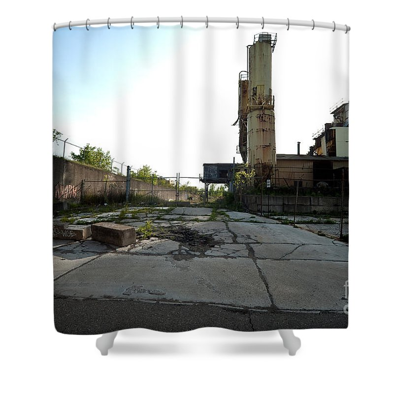 Detroit Shower Curtain featuring the photograph Gate Is Locked by Steven Dunn